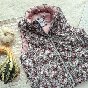 GAP Girl's Toddler Floral Puffer Fall Flower Vest